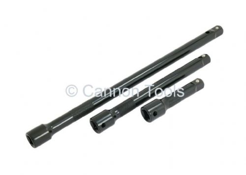 "Extension Bar Set 3/8"" Drive Impact 3 Piece 75Mm 150Mm 250Mm"